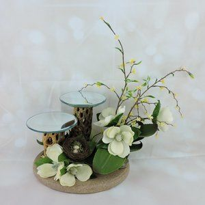Other - Handmade Floral Candle Holder Centerpiece Decor